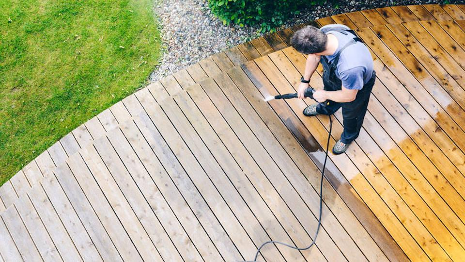 Image details: Pressure washing of exterior surfaces keeps areas safe, healthy & looking great